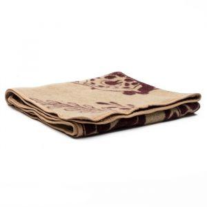Одеяло Жираф 100х140 см, беж/кор, шерсть 70%, пэ 30%   3598758