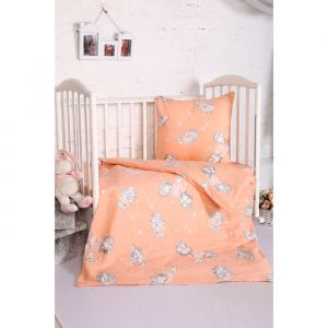 Постельное бельё BABY «Мамонтенок», цвет персик 112х147 см, 110х150 см, 60х60 см, бязь