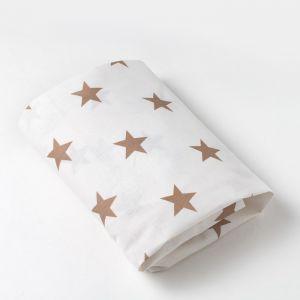 Простыня на резинке 10х60х120 см, Звезды крупные, цв 8130/4, бязь 4791781