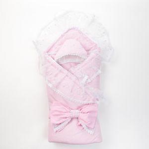 Конверт на выписку, розовый, 4 предмета, поликоттон