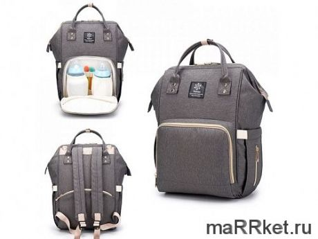 Сумка-рюкзак для мамы Mummy Bag (темно-серый)