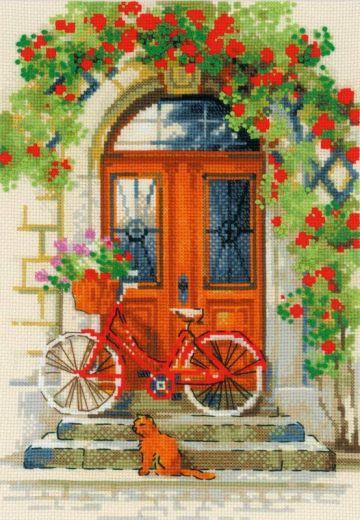 Набор для вышивания крестом Дверь в Италию №1831 фирма Риолис