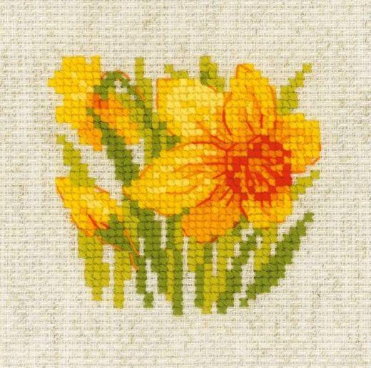 Набор для вышивания крестом Нарцисс №1841 фирма Риолис