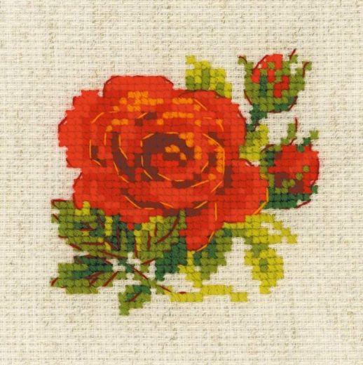 Набор для вышивания крестом Розочка №1843 фирма Риолис