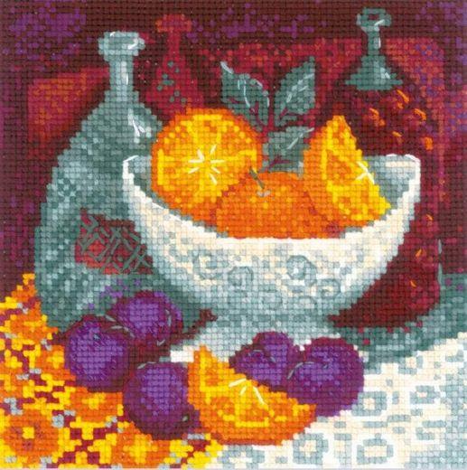 Набор для вышивания крестом Апельсины №1859 фирма Риолис