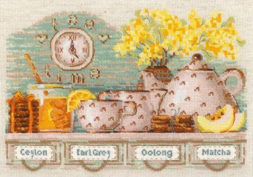 Набор для вышивания крестом Tea Time №1873 фирма Риолис
