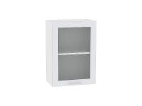 Шкаф верхний Ницца Royal В509 со стеклом (Blanco)