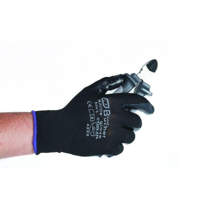ADOLF BUCHER Перчатки для механических работ с PU покрытием, цвет: черный, размер L, в упаковке 1пара