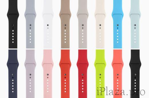 Ремешки силиконовые для Apple Watch 38/40mm 42/44mm