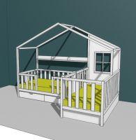 Кровать Домик угловой Fairy Land №36 (для двоих детей)