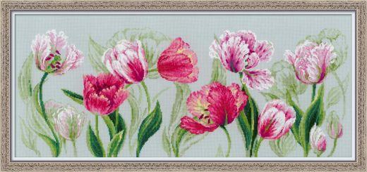Набор для вышивания Riolis Premium Весенние тюльпаны 100/052 фирма Риолис