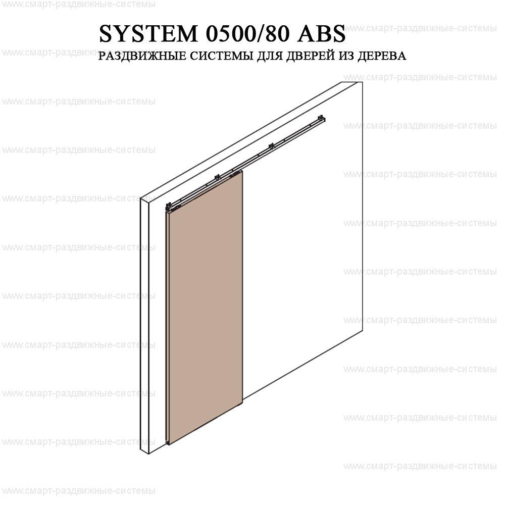 Комплект фурнитуры Krona Koblenz 0500-80 ABS на 1 дверь до 80 кг с доводчиком.