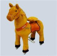 "Лошадка Ponycycle 3141 ""Зорька"" светло-коричневый"