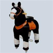 """Лошадка Ponycycle 4182 small """"Звёздочка"""" черный с белыми копытами"""