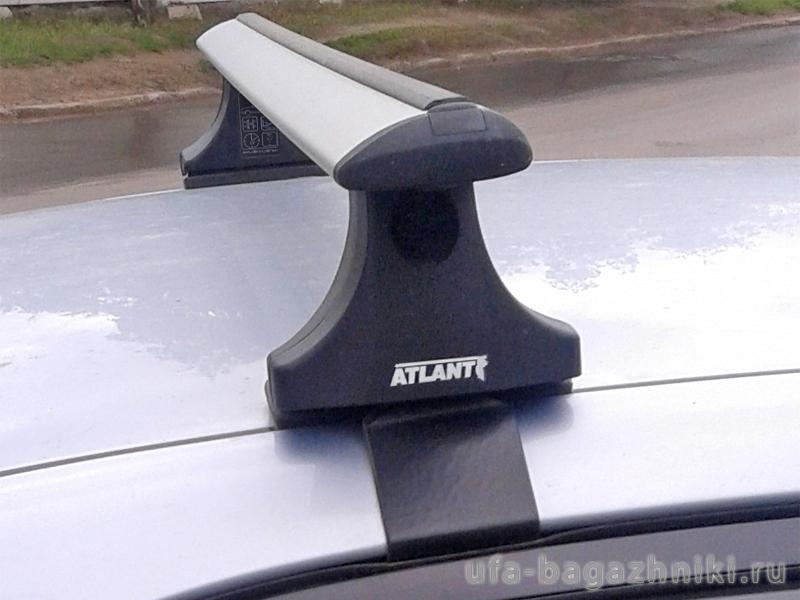 Багажник на крышу на Toyota Corolla 2001-06, Атлант, крыловидные аэродуги