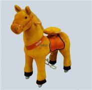 "Лошадка Ponycycle 4141 ""Зорька"" светло-коричневый"