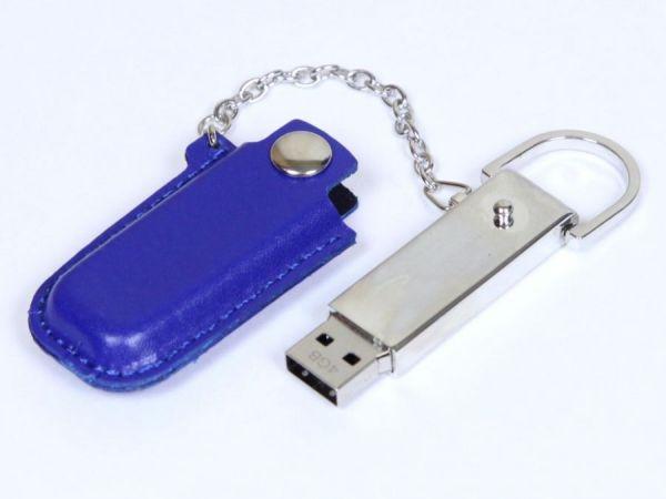 4GB USB-флэш накопитель Apexto U503E гладкая синяя кожа OEM