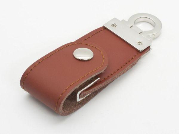 2GB USB-флэш накопитель Apexto U503C гладкая коричневая кожа OEM