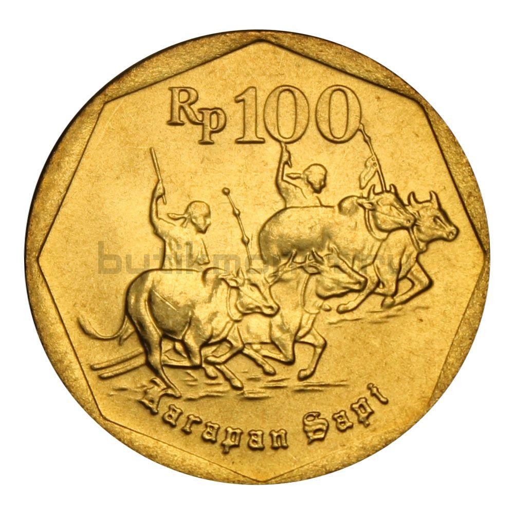 100 рупий 1998 Индонезия