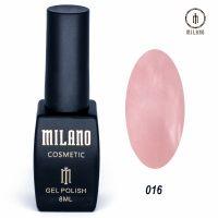 Гель-лак Milano Cosmetic №016, 8 мл