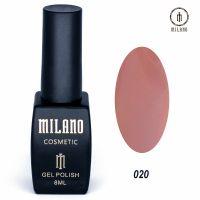 Гель-лак Milano Cosmetic №020, 8 мл