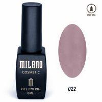 Гель-лак Milano Cosmetic №022, 8 мл