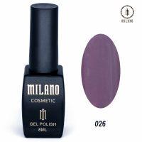 Гель-лак Milano Cosmetic №026, 8 мл
