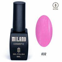 Гель-лак Milano Cosmetic №032, 8 мл