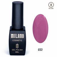 Гель-лак Milano Cosmetic №033, 8 мл