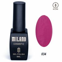 Гель-лак Milano Cosmetic №034, 8 мл