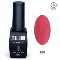 Гель-лак Milano Cosmetic №039, 8 мл