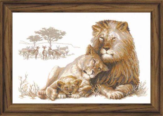 Набор для вышивания Riolis Premium Львиный рай 100/013 фирма Риолис