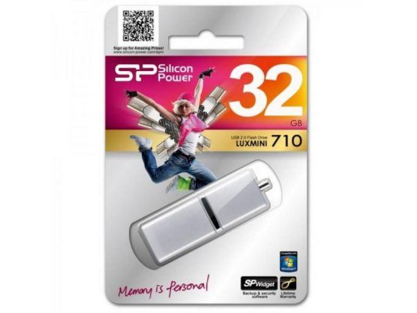 32GB USB-флэш накопитель Silicon Power (80X) Luxmini 710 серебристый