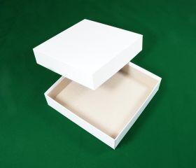 Коробка белая 20 х 20 х 5 см