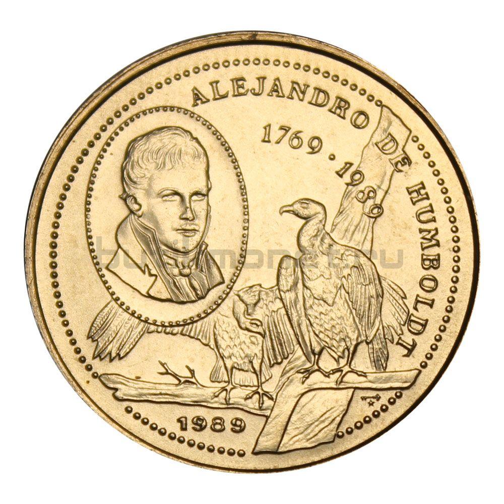 25 сентаво 1989 Куба 220 лет со дня рождения Александра фон Гумбольдта