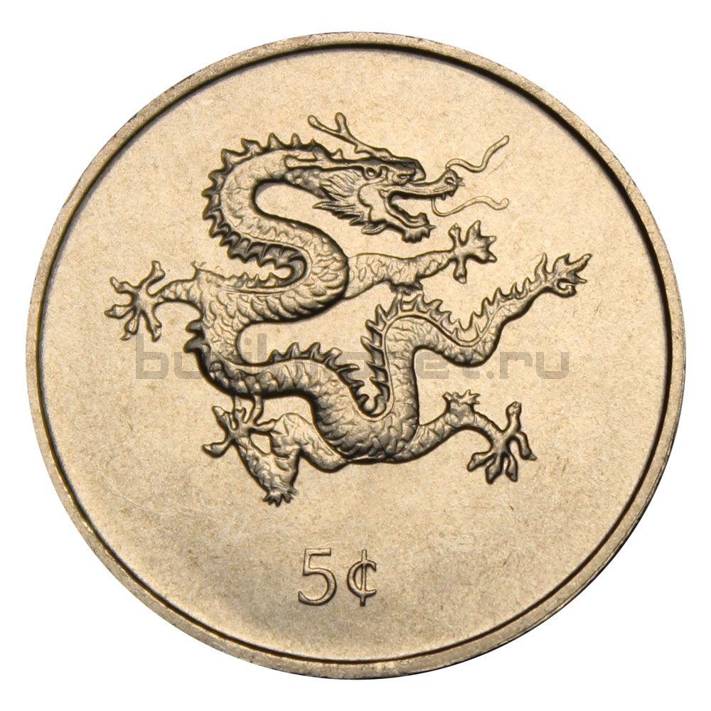 5 центов 2000 Либерия