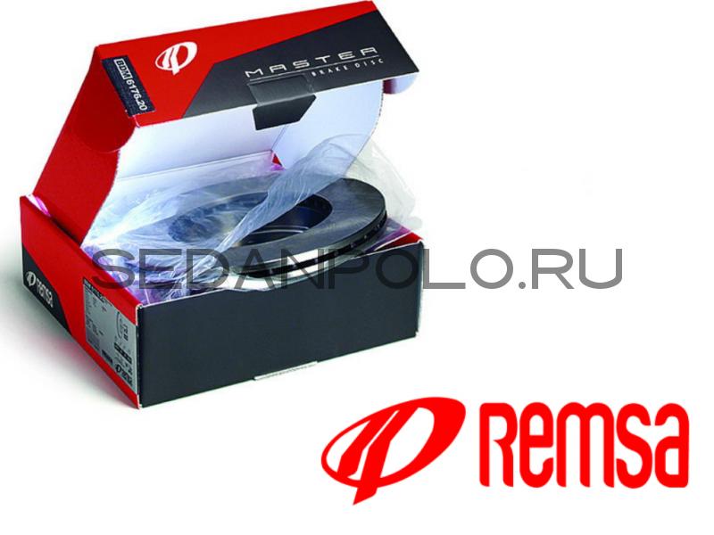 Тормозной диск передний Remsa