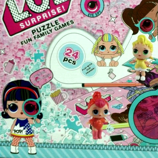 Купить Пазл раскраска с куклами лол decoder недорого