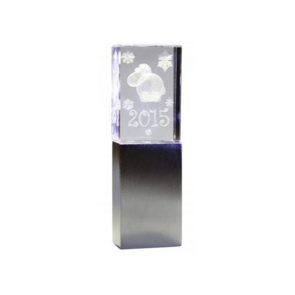 4GB USB-флэш накопитель овечка Apexto UG-001 SHEEP стеклянный, синий LED