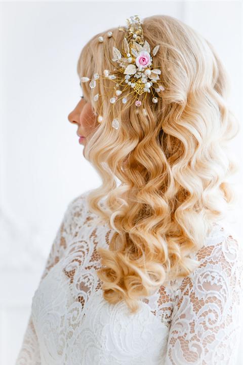 Свадебный венок в эльфийском стиле