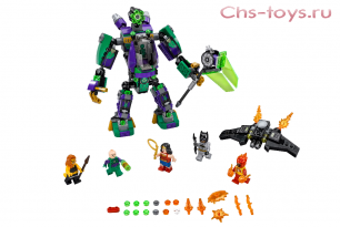 Конструкторы Lari Супер герои Сражение с роботом Лекса Лютора 10843 (76097) 444 дет