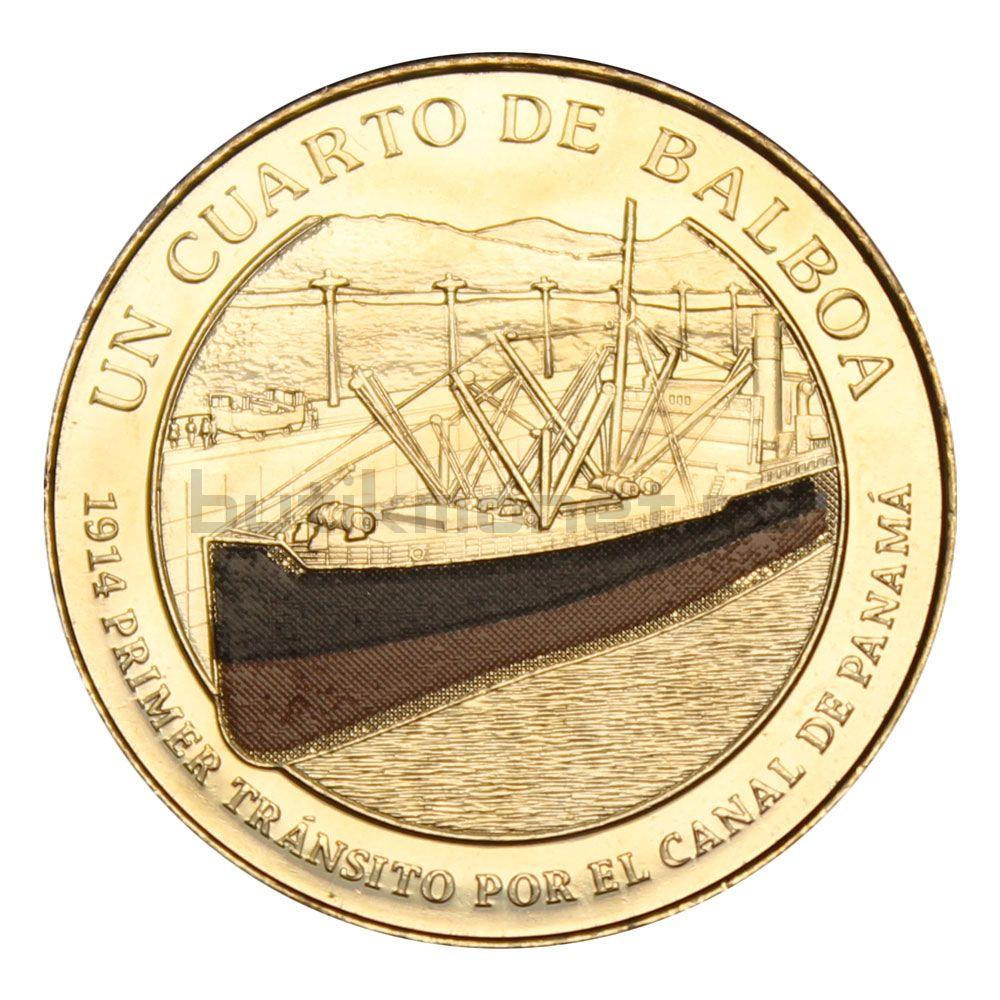 1/4 бальбоа 2016 Панама Пароход Анкон (100 лет строительству Панамского канала)