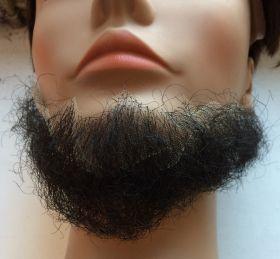 Борода без усов черная средняя
