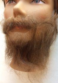 Борода с усами русая прямая