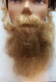 Борода с усами светлая длинная