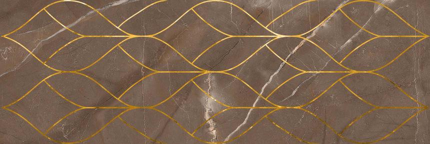 1664-0158 Настенная плитка декор Миланезе Дизайн 20х60 тресс марроне
