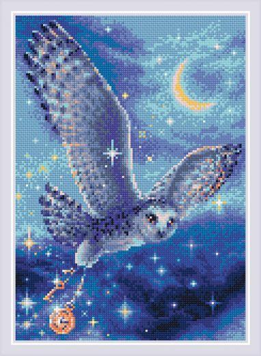 Набор для выкладывания стразами Волшебная сова АМ0041 фирма Риолис