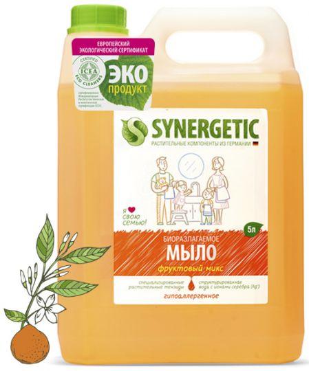 Synergetic Жидкое мыло Фруктовый микс 5 л