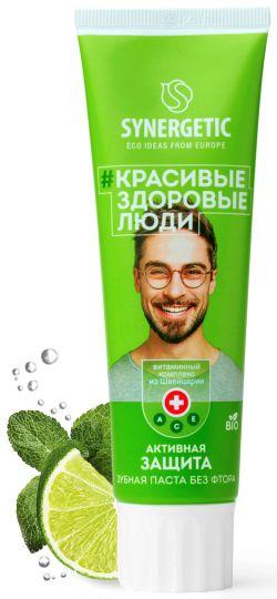 Synergetic Зубная паста Активная защита Лайм 100 г