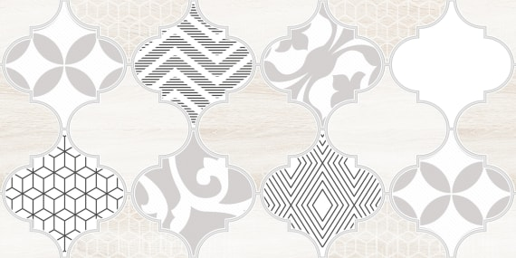 1641-8626 Настенная плитка декор2 Мореска 20х40 бежевая